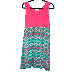 Be Inspired Boutique Dress Neon Southwestern Pink